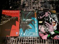DC Comics. Batman Year One Killing Joke and The Long Halloween