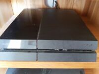 PS4 Console, controller, 9 games and 1 game guide