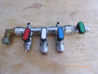 4 Way LPG Gas Taps with feed used