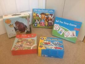 Children's jigsaw puzzles and games
