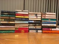 REDUCED TO SELL.100 books for sale .EVERYTHING in all photos. ,novels ,romance