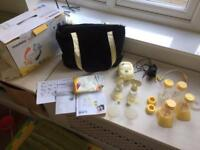 Medela freestyle double electric breast pump set