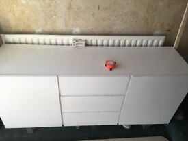 White used side board