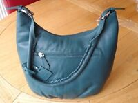 Brand new - Hotter leather handbag, deep teal in colour. (Still in packaging)