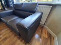 Brown Leather Sofa for Sale (two seater)