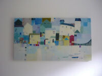 St Ives Cornwall Seaside Harbour Large Canvas Art Giclee Print by Kate Pope 35""