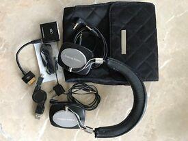 Bowers & Wilkins P3 on-ear headphones with FiiFo headphone amplifier