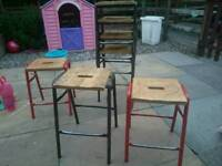 School technical stools old style