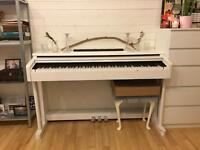 piano - white piano - good condition
