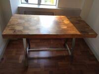 Artisan honeycomb wood desk