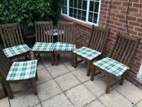 6 Garden Chairs .Solid Iroko