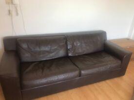 Habitat leather Sofa Bed