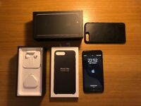 Iphone 7 Plus 128GB Jet Black + Extended Warranty 2018 + Original Leather Case