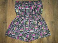 LADIES STRAPLESS PLAYSUIT
