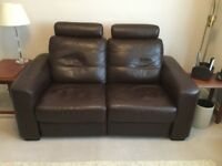 2 - ELECTRIC POWER - RECLINING DOUBLE SOFAS SOFT GRAIN LEATHER