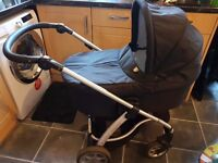 Mamas and papas sola pra with pushchair and car seat