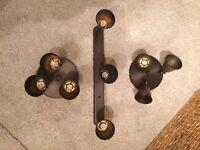 Dark antique Brass Effect spotlights