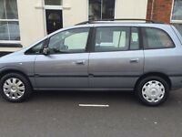 Vauxhall Zafira Grab a bargain. Low mileage for its age. MOT expires June 2017