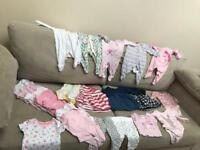 Up to 1 month baby girl clothes