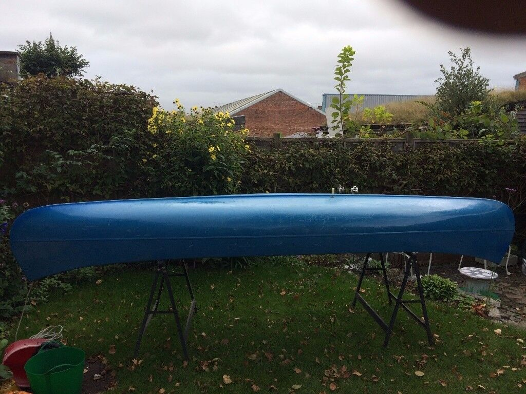Canoe, fibreglass 12.5ft/3.80m long.