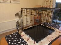 Dog Crate/Cage medium size two door excellent condition.