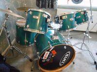 Mapex Drum Kit Teal very smart complete 6 drums 3 sets of symbols