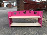 Pink heart shelves