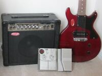 Vintage V130 guitar, amp and multi-effects pedal combo
