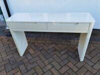 Next white gloss dressing table