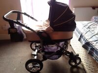 3 in 1 travel system: pram, carseat, stroller