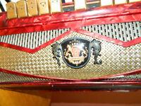 ,ROYAL STANDARD,- MONTANA -piano accordion 120 bass-red