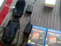 2x psp vitas and 2x minecraft games