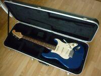 Fender Squier stratocaster, special model in hardshell