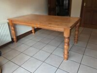 Solid Pine Dining Table 180x100 - Excellent Condition £85 O.N.O
