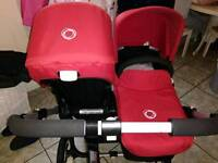Bugaboo Donkey Duo - two toddler seats and one carrycot