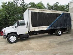 2007 GMC C7500 Diesel with custom 24 ft double curtain side box