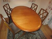 NATHAN TEAK TABLE AND CHAIRS