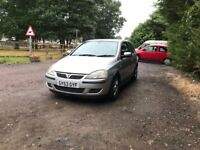 Vauxhall corsa SXI 16V for sale, MOT, service history, low mileage, drives perfect.
