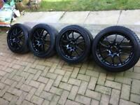 17 inch black alloys