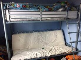 Pull out futon bunk bed