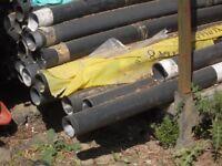 plastic pipes black used
