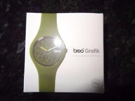 Breo Green Plus Classic Grafik Watch B-TI-CKG2/Brand New...