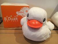 Very cute duck (white) cuddly cd case
