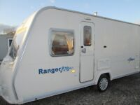 bailey ranger series 5 460/4 four berth fixed bed touring caravan year 2007, very lightweight .