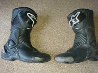 Alpinestars SMX6 motorcycle boots.
