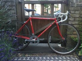 Red 1980s 531 road bike