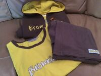 Brownies Uniform. Hoodie, T-Shirt and Trousers (Older girls sizes)