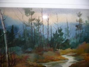 "Pauline Holancin (Kulha) ""October Sky"" Watercolor 1987 Stratford Kitchener Area image 5"
