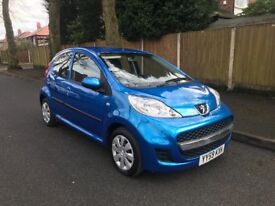 Peugeot 107 12 Months Mot Full History cheap tax and insurance