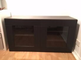 IKEA BESTA TV Stand with Glass Doors, table, entertainment center